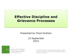 Effective Discipline & Grievance Processes