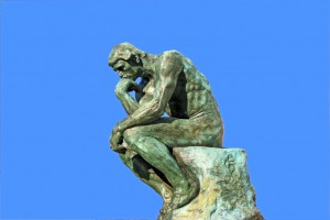 1622450 - thinker isolated over blue